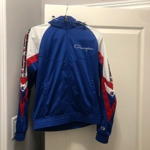 Champion hooded zip up